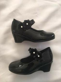 Little Girls Black Patent Leather Dress Shoes Size 8