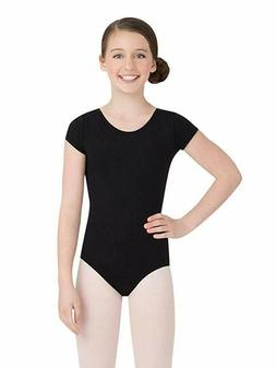 Capezio Little Girls' Classic Short Sleeve Leotard,Black, To