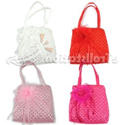 Little Girls Dress Up Handbag Wedding Bag Sequin Quilted Pur