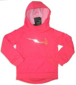 Nike Little Girls Dri-Fit Therma Hoodie  NWT  Racer Pink  Si