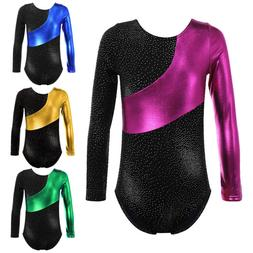 Little Girls Gymnastics Ballet Leotard Rainbow Stripe Athlet