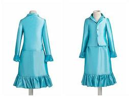 Little Girls Kids Pageant Interview Suits 2 Piece Jacket and