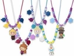 Little Girls Necklace 5 Rubber Character Charms 150 Beads Ne