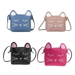 Little Girls Purses Pink Cute Cat Shoulder Crossbody Bag for