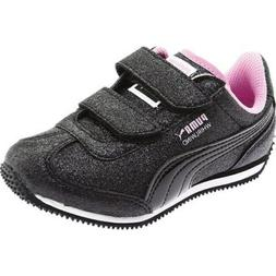 Puma Little Girls Sneakers Whirlwind Size US 11C Black Pink