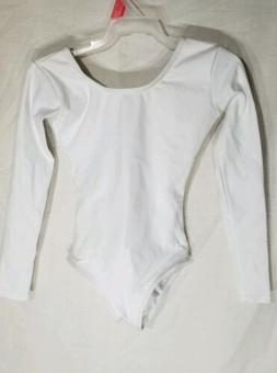 Capezio Little Girls' Team Basics Long Sleeve Leotard,White,