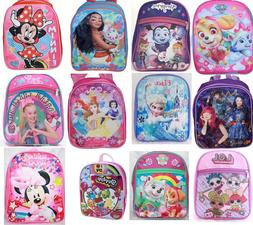little girls toddler prek school backpack movie