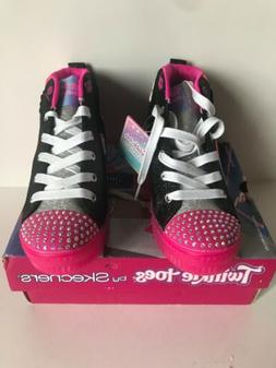 Skechers Little Girls Twinkle Toes Mix N' Patch High Top Lig