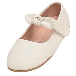 Anne Marie Little Girls White Tie Hook-And-Loop Mary Jane Sh