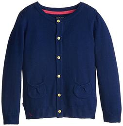 Nautica Little Girls' Jersey Cardigan Sweater with Pockets,