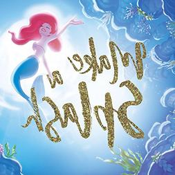 The Little Mermaid Ariel Make a Splash Gold Glitter Embellis