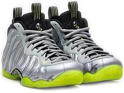 Nike Little Posite 1 GS Shoes Silver/Volt-Black 644791-001