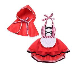 Little Red Riding Hood Halloween Costume for Baby Girl Fancy
