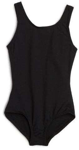 Capezio Little Girls' Team Basic Tank Leotard,Black,S
