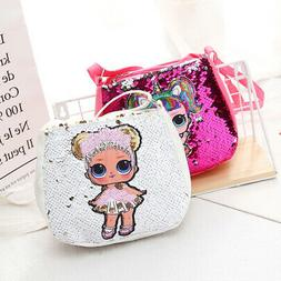 LOL doll baby purse handbag little girl sequin crossbody bag