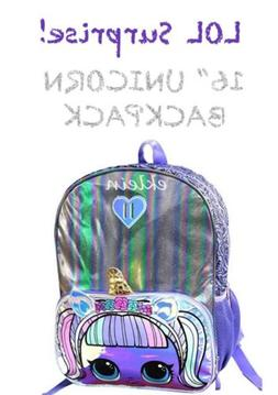 LOL Surprise Doll *UNICORN* 16 Inch Backpack