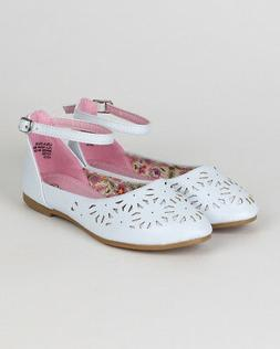 Little Angel Lola-731E New Girls PU Perforated Ankle Strap B