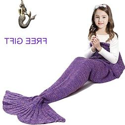 Mermaid Tail Blanket for Kids ,Hand Crochet Snuggle Mermaid,