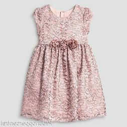 Mia & Mimi Little Girls Fancy Luxe Lace Dress Special Occasi