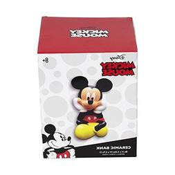 DISNEY MICKEY MOUSE LARGE CERAMIC COIN MONEY BANK NEW IN BOX
