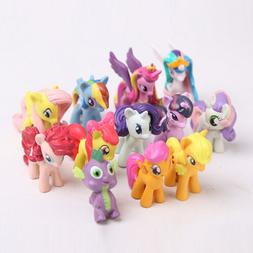 My Little Pony Action Figures Rainbow Dash Celestia 12 PCS C
