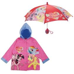 Hasbro My Little Pony Slicker and Umbrella Rainwear Set, Lit