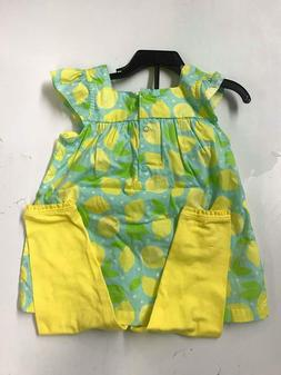 NEW Carter's Little Girl's 2 Piece Playwear Outfit Set - YEL