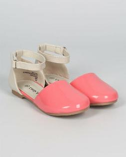New Girl Little Angel Britt-845 Patent Two Tone D'orsay Ankl