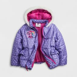 NEW Girls My Little Pony MLP Puffy Puffer Coat Jacket Size 4