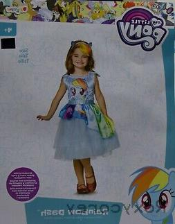 NEW Girls My Little Pony RAINBOW DASH Costume Size 7-8 Mediu