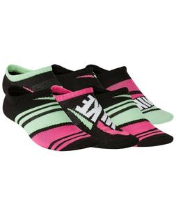 New Nike Little Girls 6-Pk. No-Show Striped Socks Size Small