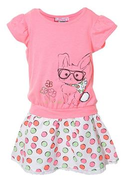 NEW Fleurish Little Girls Dress - PINK RABBIT - 2T / 3T / 4T