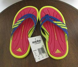 NEW LITTLE GIRLS ADIDAS KISTULLA SC FLIP FLOPS SANDALS SZ 11