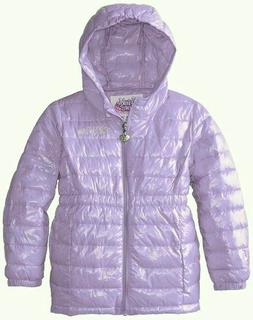 New Skechers Little Girls Twinkle Toes Hooded Puffer Jacket