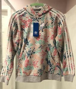 NWT Adidas Floral Hoodie Little Girls Size M