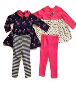 NWT Little Me Girls 4-Piece Day Care Set - 24M - Pink/Navy P