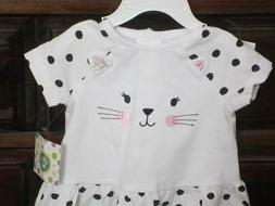 NWT/Little Me Infant Girls 2 Pc.Outfit/12 Mos/CAT EYES/Polka