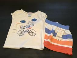 NWT Gymboree Infant Girls 2pc Outfit - Little Girl On Bike W