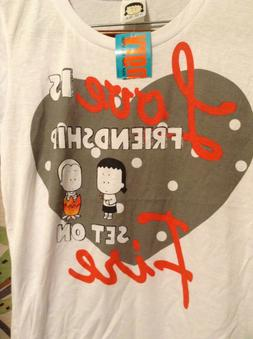NWT Angry Little Girls Shirt Love Is Friendship Set On Fire