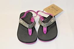 NWT Toddler girls Reef Little Sassy thong sandals with back