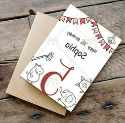 Personalised Fifth Birthday Card 5th Birthday card for littl