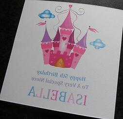Personalised Girls Birthday Card 2nd 3rd 4th 5th 6th 7th 8th