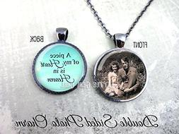 Personalized Custom Photo Double Sided Necklace or Key Chain