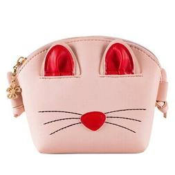Pink Little Girls Crossbody Purse Cute Cat Shoulder Bag for