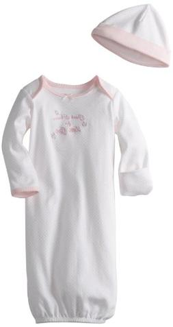 Little Me® Baby Girls' Pink Thanks Gown and Hat