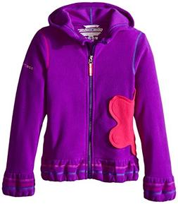 Obermeyer Girls Poppy Fleece Zip Hoodie, Small, Iris Purple