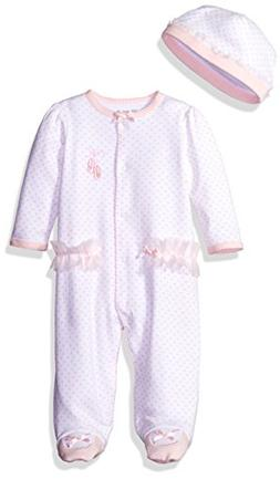 Little Me Baby Girls Prima Ballerina Footie Pink