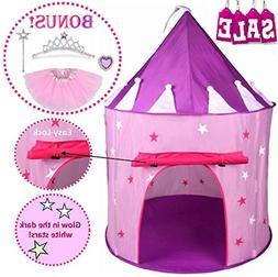 Hide N Side 5pc Princess Tent for Girls Play Tent Princess C