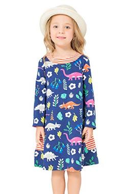 Little Bitty girl printed flower casual toddler cotton long