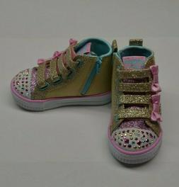 Twinkle Toes by Skechers Quilted Beauties Light Up Sneakers,